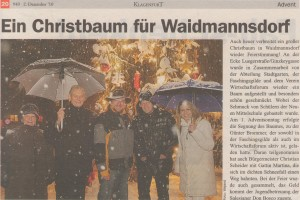 Christbaumsegnung